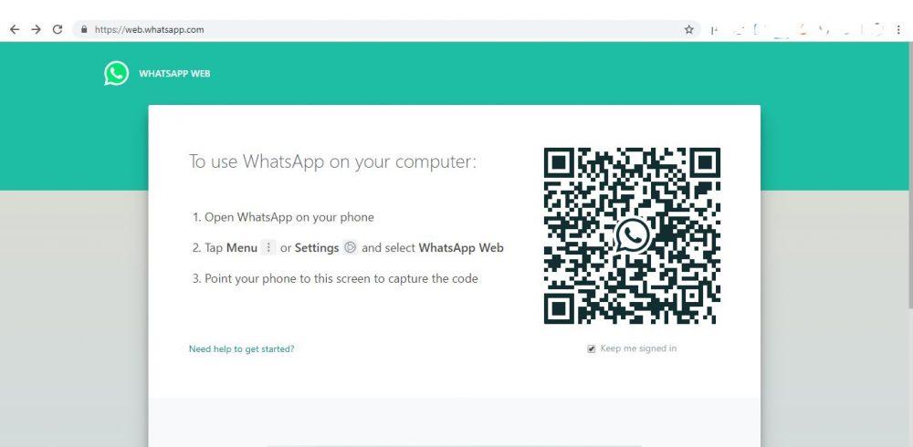 cara menggunakan whatshapp web