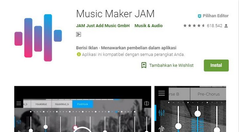 aplikasi pembuat instrumen lagu