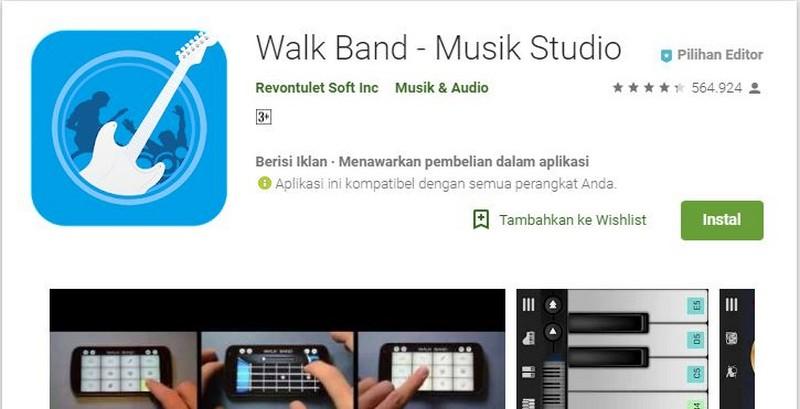 aplikasi untuk membuat instrumen lagu