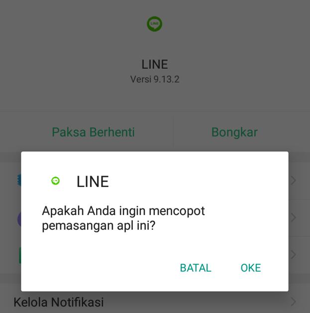 cara mengatasi line error
